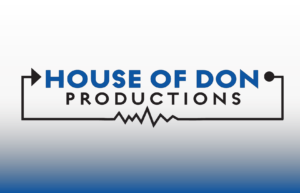 House of DON Productions company logo with gradient background