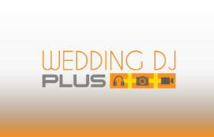 Wedding DJ Plus company logo with gradient background